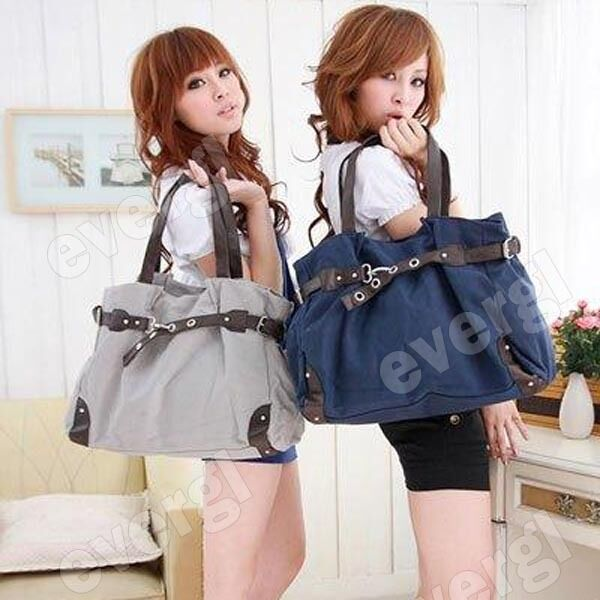 New Korean Style Fashion Cute Girl Casual Canvas Bag Shopper Boat Tote
