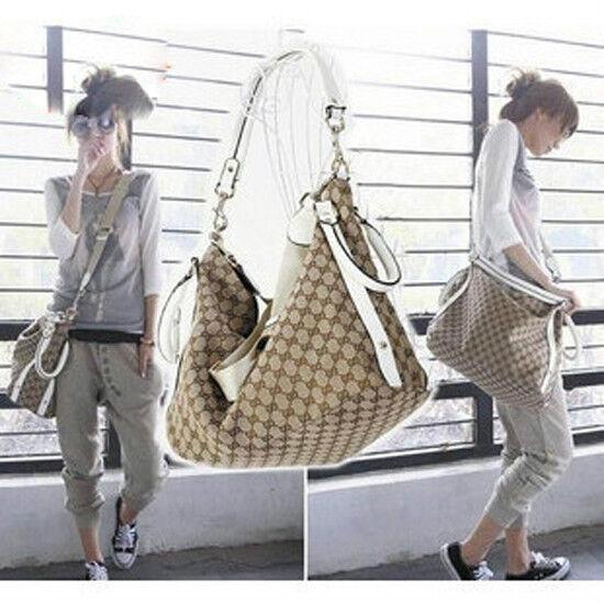 Korean style Rivets Hobo handbag WOMEN Canvas Fashion Shoulder Bag