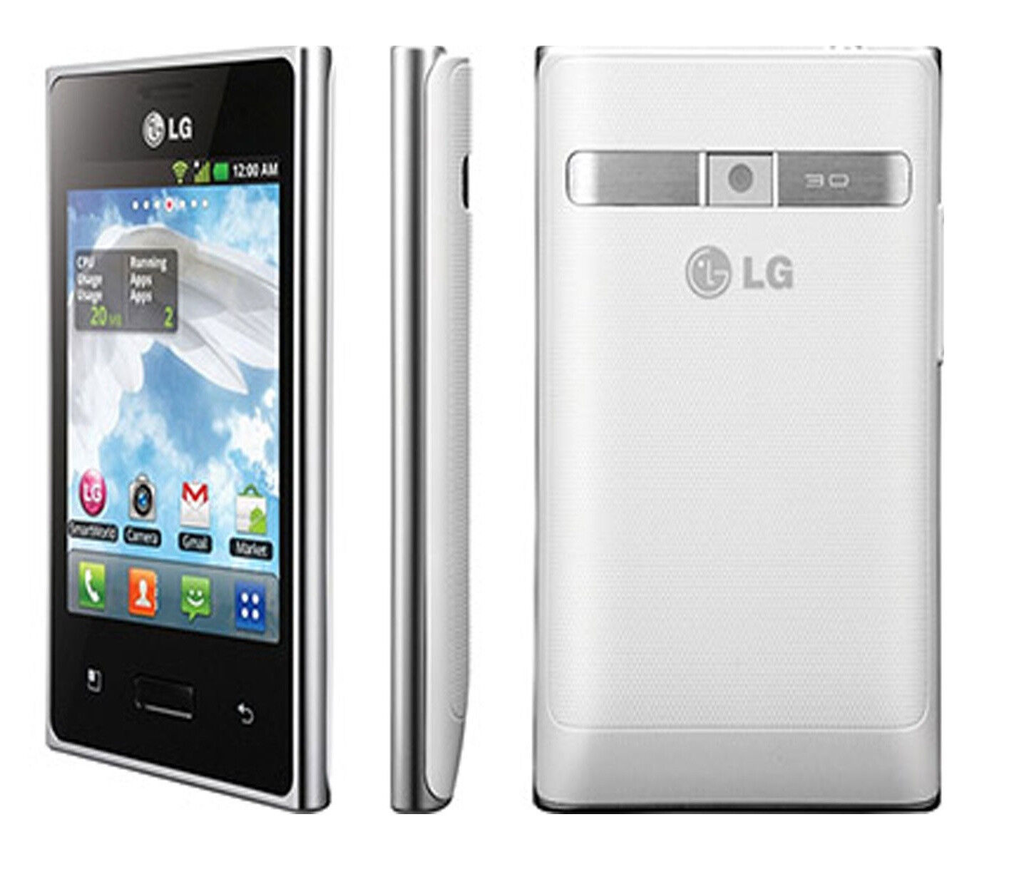 New LG Optimus L3 E400 Unlocked GSM Phone Android 2 3 OS 3 2MP Camera GPS Wi Fi
