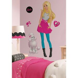 New Large Barbie Wall Decals Girls Bedroom Decorations ...