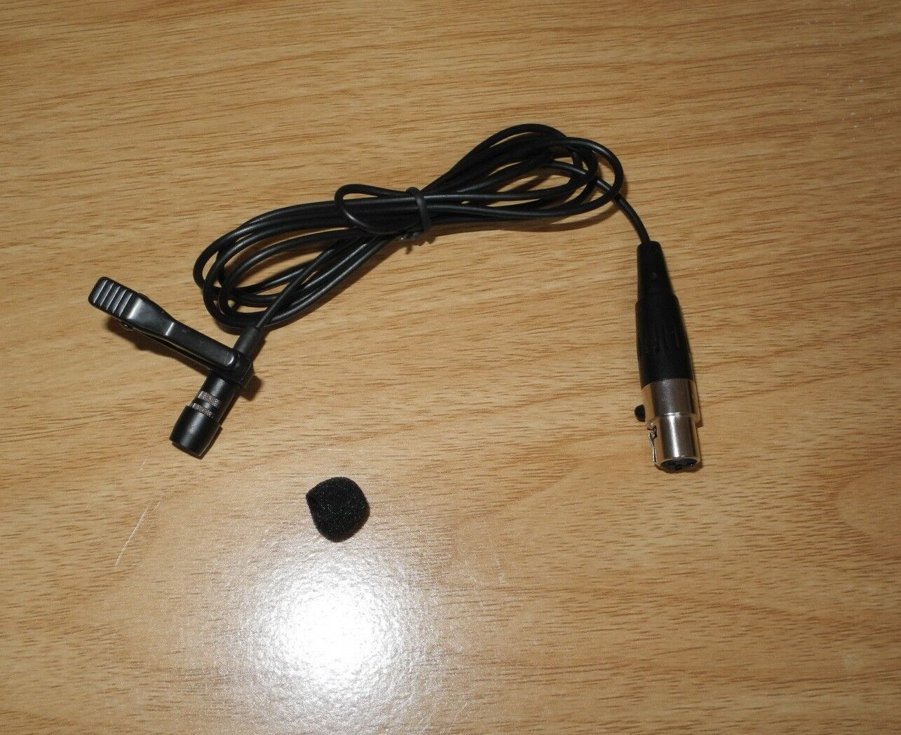 new lavalier tie clip on microphone for shure wireless mic system 4 pin mini xlr 757450802394 ebay. Black Bedroom Furniture Sets. Home Design Ideas