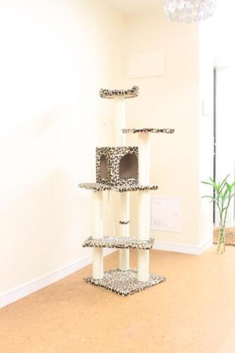 "New Leopard Skin 60"" Cat Tree Condo Furniture Scratch Post Pet House in Pet Supplies, Cat Supplies, Furniture & Scratchers 