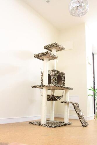 "New Leopard skin 57"" Cat Tree Condo Furniture Scratch Post Pet House in Pet Supplies, Cat Supplies, Furniture & Scratchers 