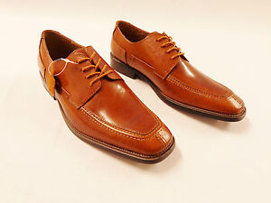 Dress shoes genuine leather cognac fratelli oxfords lace up modern