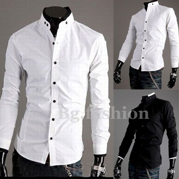 New Men's Luxury Casual Slim Fit Sexy Top Designed Stylish Dress Shirts s M L XL