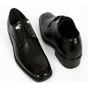 Simple Black Dress on New Mens Oxford Dress Shoes Classic Simple Black   Ebay