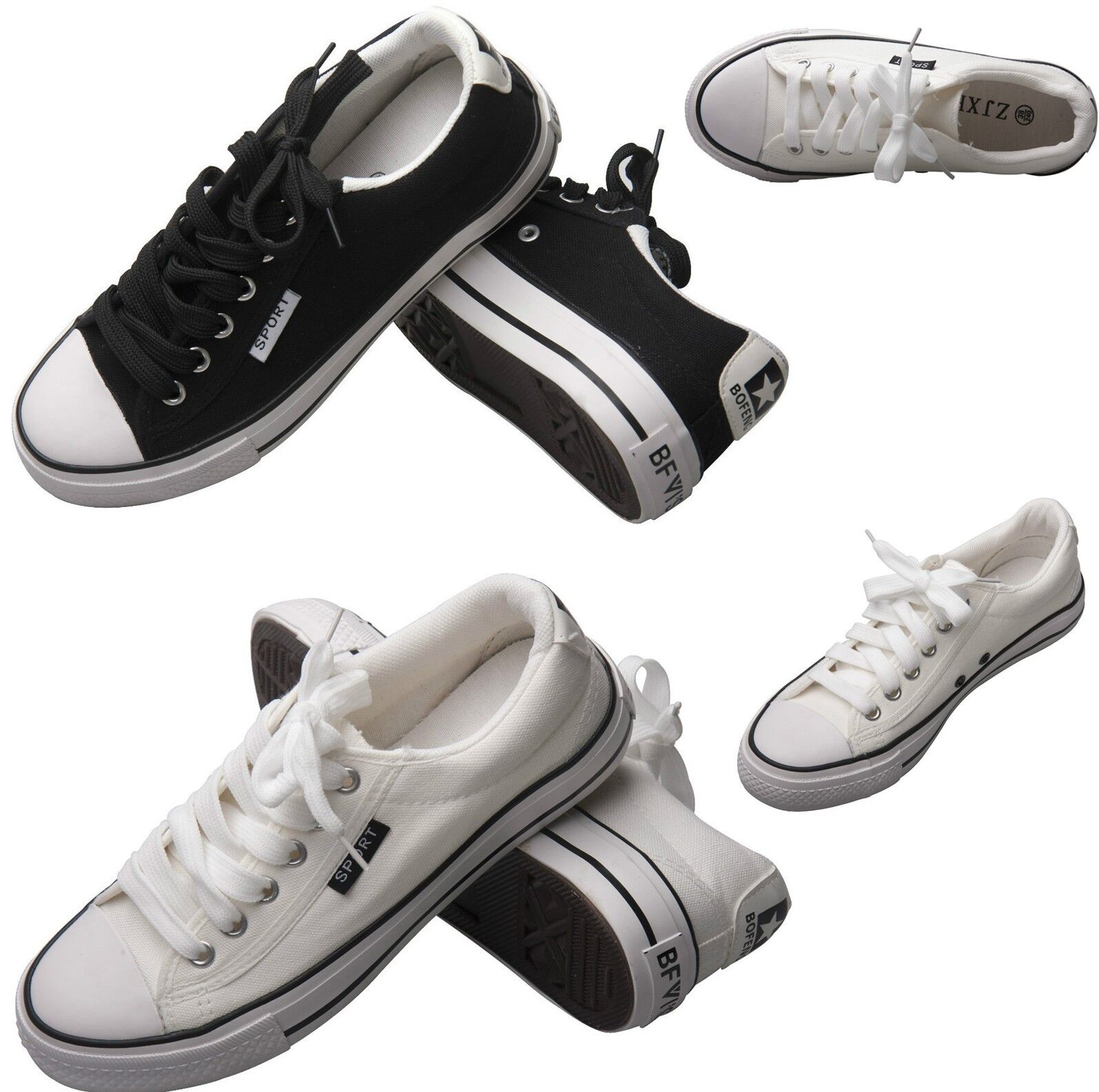 New Men's Shoes Canvas Athletic Sneakers Man Lace up Casual Low Top Oxford Heel