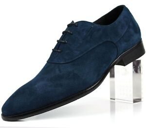 new mens suede leather dress formal shoes lace up black or
