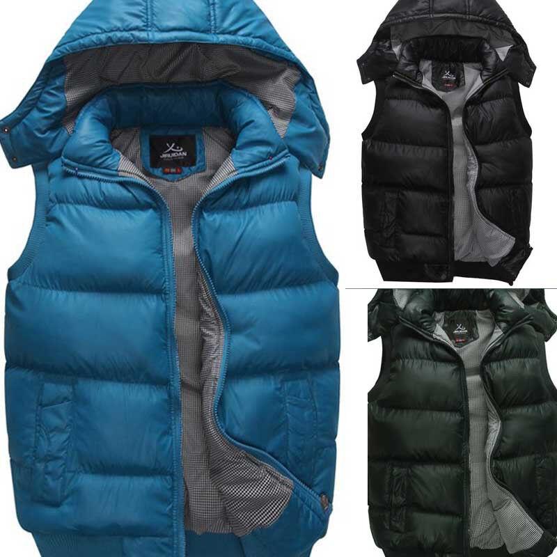 New Men's Winter Outdoor Casual Down Warm Vests Coat ...