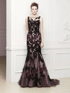 Prom Dress Stores on Black Applique Formal Prom Evening Party Dress Pageant Wedding Dress