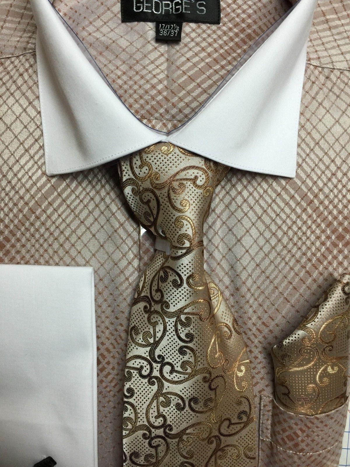 New mini plaid check design dress shirt french cuff white for New check designs