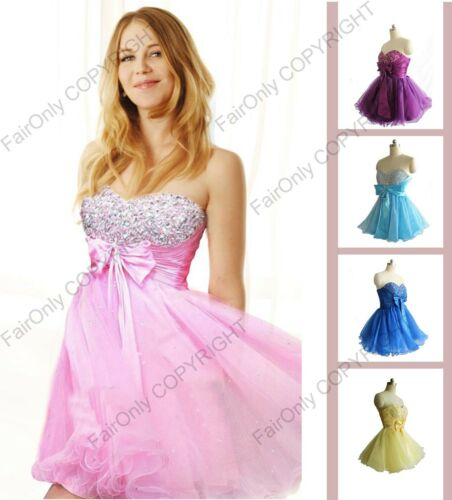 New Mini/Short Cocktail Party Evening Prom Dress Ball Gown Size 6 8 10 12 14 16 in Clothing, Shoes & Accessories, Women's Clothing, Dresses | eBay