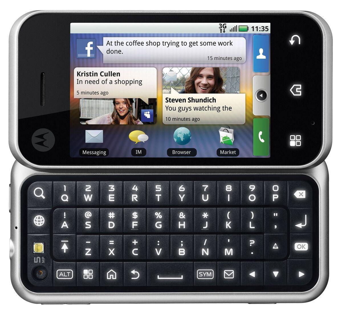 New Motorola Backflip MB300 Unlocked GSM Phone 3G Android OS 5MP Camera Motoblur