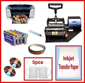 New Mug Cup Heat Press Epson Printer Sublimation Cartridge Transfer Paper Packg in Business & Industrial, Printing & Graphic Arts, Screen & Specialty Printing | eBay