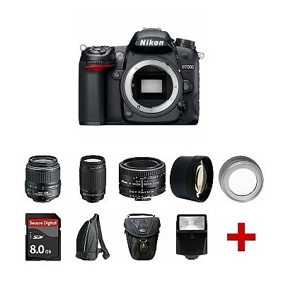 New Nikon D7000 SLR With 5 Lens Kit: 18-55mm, 70-300mm, 50mm + 8GB & Much More! in Cameras & Photo, Digital Cameras | eBay