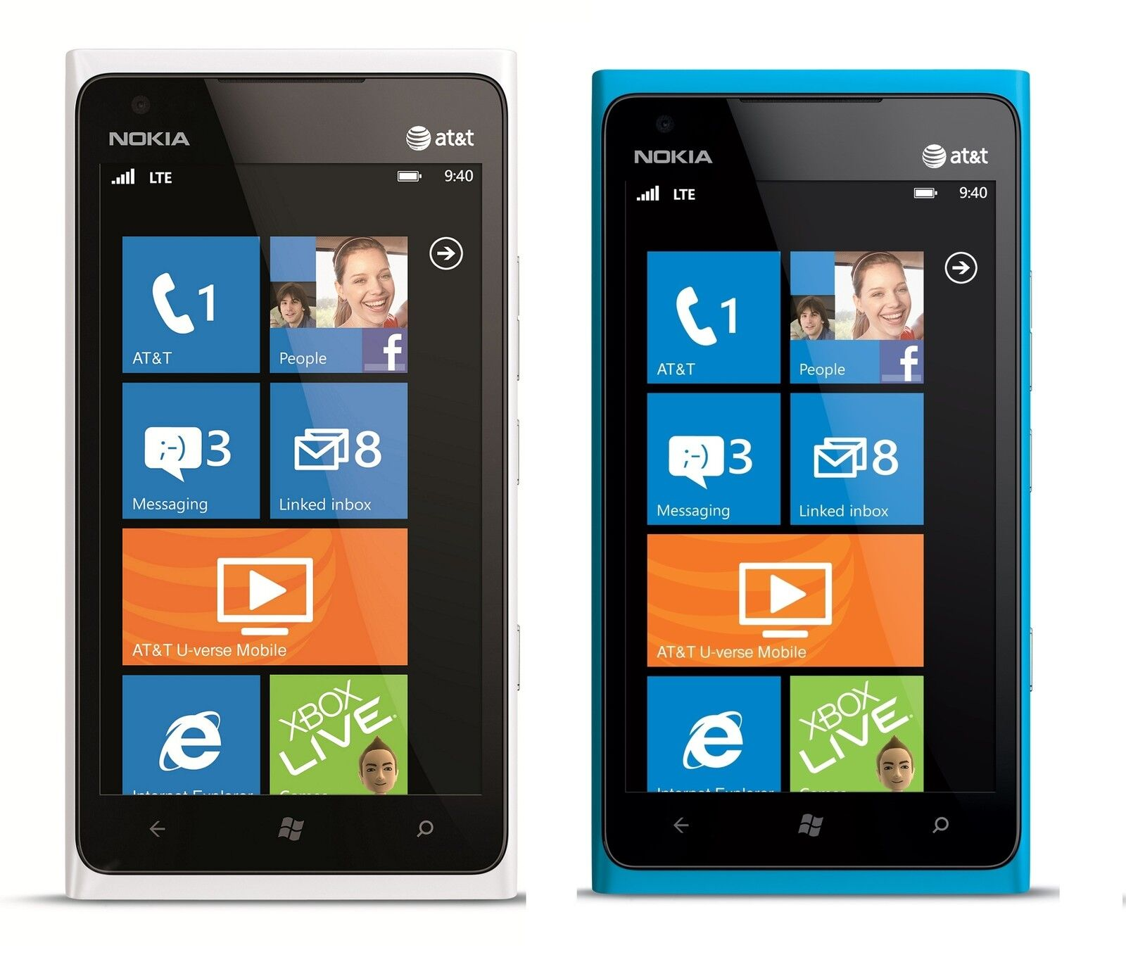 New Nokia Lumia 900 16GB Unlocked GSM Phone Windows 7 8 OS 8MP Camera GPS Wi Fi