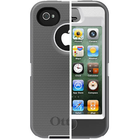 New Otterbox Defender Case for iPhone 4S/4 - Gray/White - Newest Version No Clip in Cell Phones & Accessories, Cell Phone Accessories, Cases, Covers & Skins | eBay