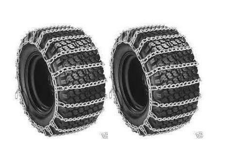 New PAIR 2 Link TIRE CHAINS 23x9.50x12 for Garden Tractors / Riders