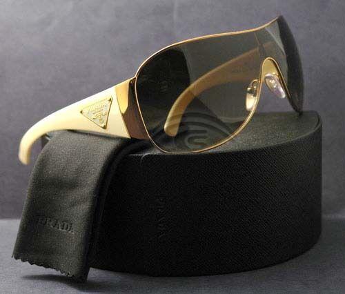 New PRADA Milano White Ivory Gold Mens Womens Sunglasses PR 57LS SPR 57L ZVA 6S1