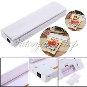 New plastic food storage saver bag heat seal sealer manual for Food bar press machine