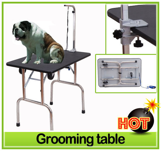 Portable Folding Pet Dog Cat Grooming Table with Wheels 35X24