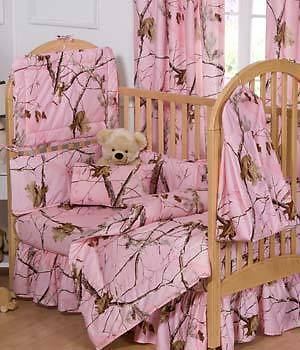 New Realtree AP Pink Camo Baby Crib 6 Pce Bedding Set in Baby, Nursery Bedding, Crib Bedding | eBay