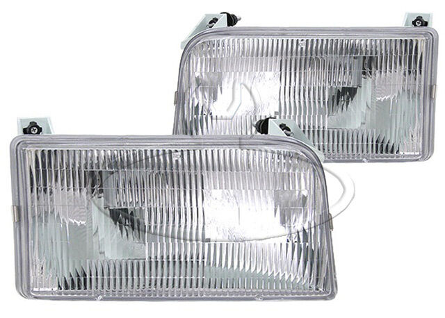 New Replacement Headlight Assembly Pair for 1992 96 Ford Truck Bronco