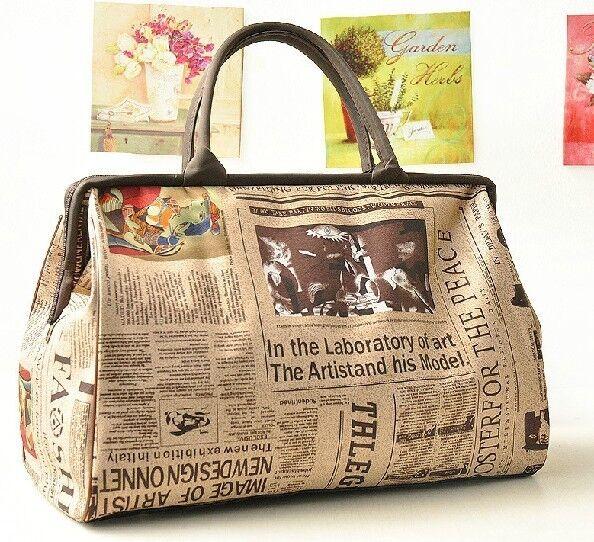 New Retro Vintage Style Womens Handbag Tote Shoulder Bag