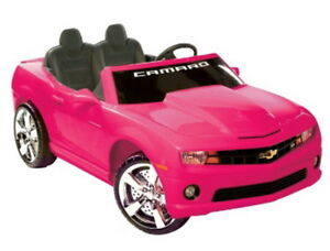 New Ride On Electric Toy Car Girls Pink Chevy Camaro With