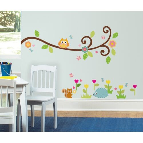 New SCROLL TREE BRANCH WALL STICKERS Branches & Leaves Decals Baby Nursery Decor in Baby, Nursery Decor, Wall Decor | eBay