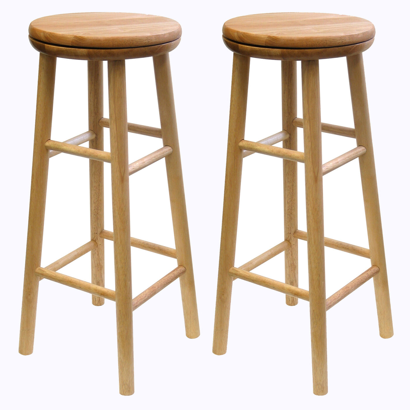 New Set of 2 30 High Swivel Wooden Stools in Natural Color  : 28KGrHqFHJEoEWM2Vr929BQB9VM29w217E7E6057 from www.ebay.com size 1400 x 1400 jpeg 180kB