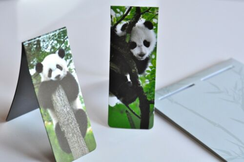 New Set of 2 Magnetic Bookmark Very Cute Chinese Giant Pandas in Trees in Books, Accessories, Bookmarks | eBay