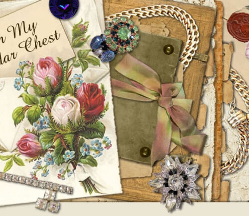 New Shabby Vtg Chic Scrapbooking Jewelry Pink Roses Ebay Auction Template IMCC in Everything Else, eBay User Tools | eBay