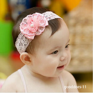 new soft newborn baby toddler girls large flower lace head