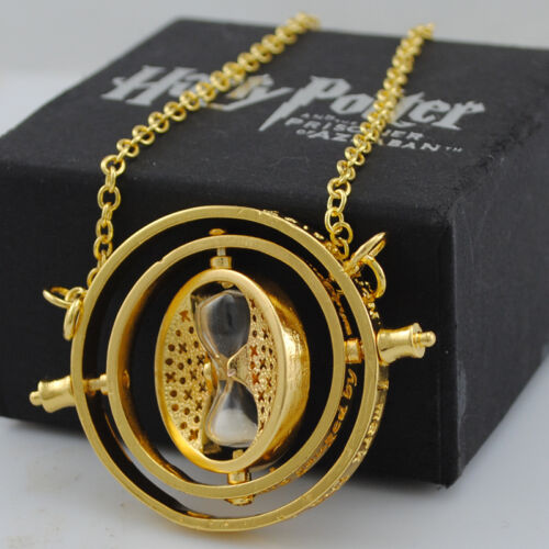 New TIME TURNER NECKLACE Harry Potter Hermione Granger 18k Yellow GP Necklace in Collectibles, Fantasy, Mythical & Magic, Harry Potter | eBay