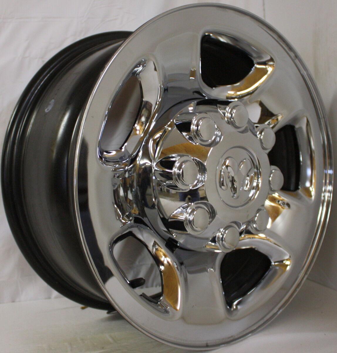 Off 17 Dodge Ram 2500 3500 Factory OEM Chrome Clad Steel Wheels Rims