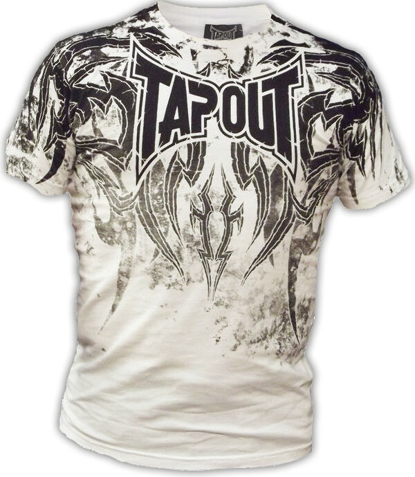 Tapout Mens Corruption UFC MMA Short Sleeve Cage Fighter T shirt White