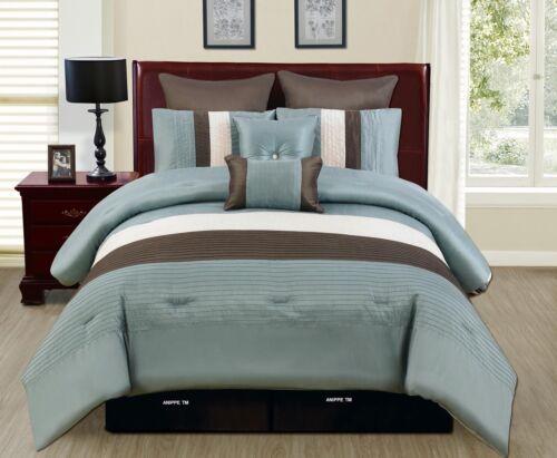 New Veneto 8-Piece Reversible Queen Size Bed in a Bag Comforter Bedding Set Blue in Home & Garden, Bedding, Bed-in-a-Bag | eBay