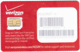 New Verizon 4G LTE Micro 3FF Sim Card in Cell Phones & Accessories, Phone Cards & SIM Cards, SIM Cards | eBay