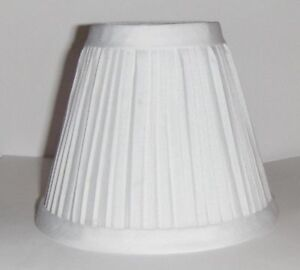 New White Pleated Mini Chandelier Lamp Shade | eBay