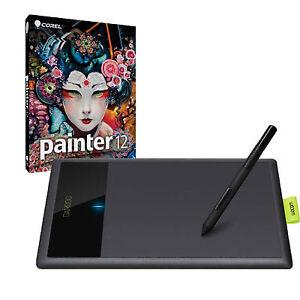 New Wacom Bamboo Splash Pen Tablet Ctl471 Corel Painter 12 Digital Art Software Ebay