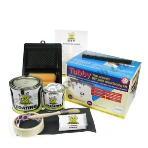 new white tubby enamel bath paint kit for re surfacing
