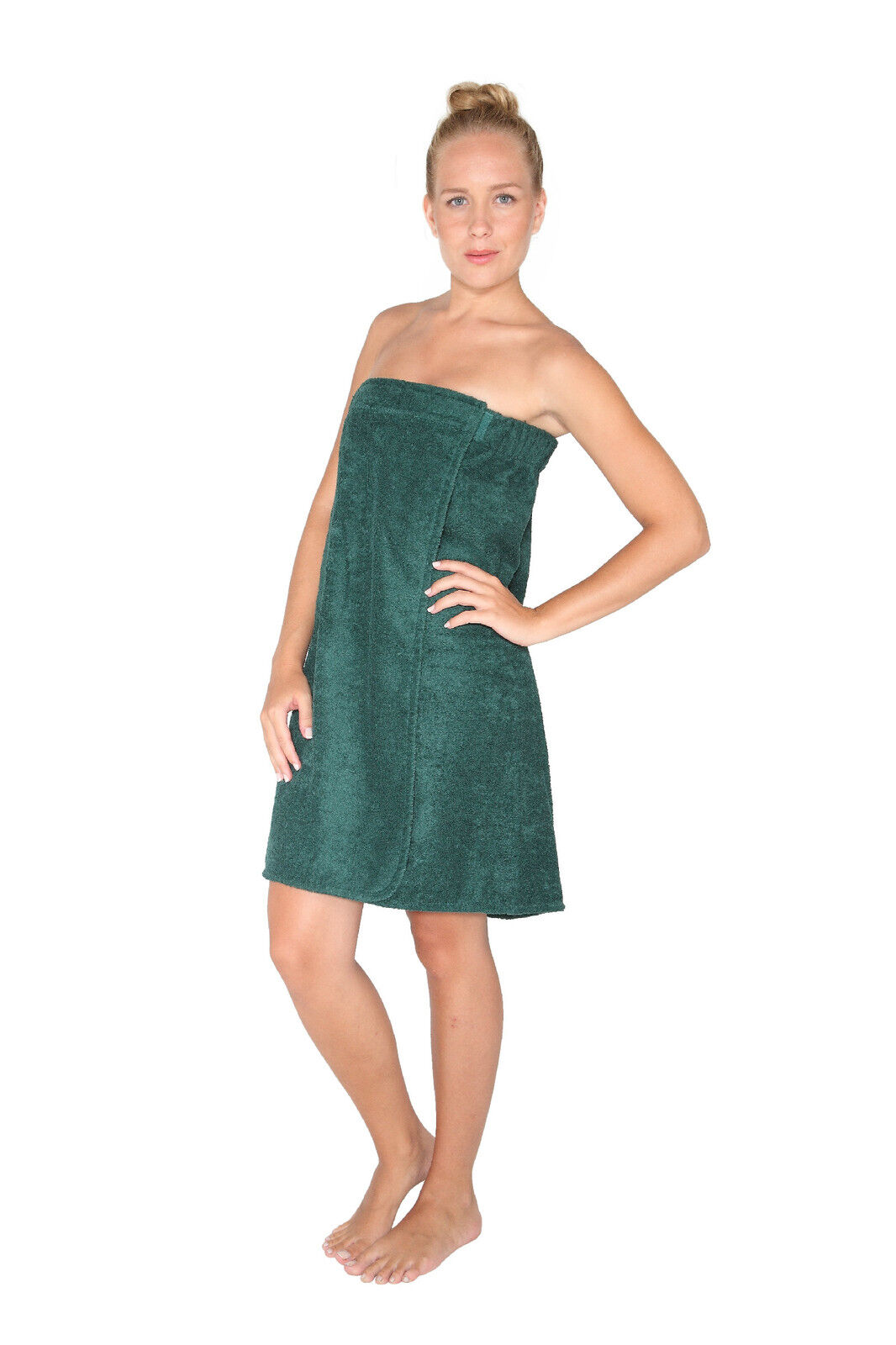 Womens Organic Turkish Cotton Terry Shower Spa Bath Wrap
