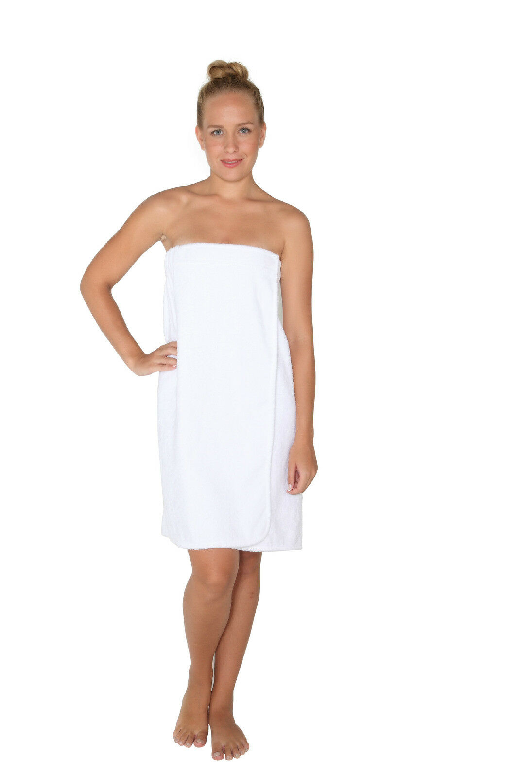 womens organic turkish cotton terry shower spa bath wrap robe towel ebay. Black Bedroom Furniture Sets. Home Design Ideas