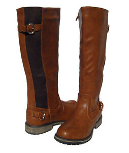 Elegant Womens Boots Knee High Fashion Riding Flat Stylish Faux
