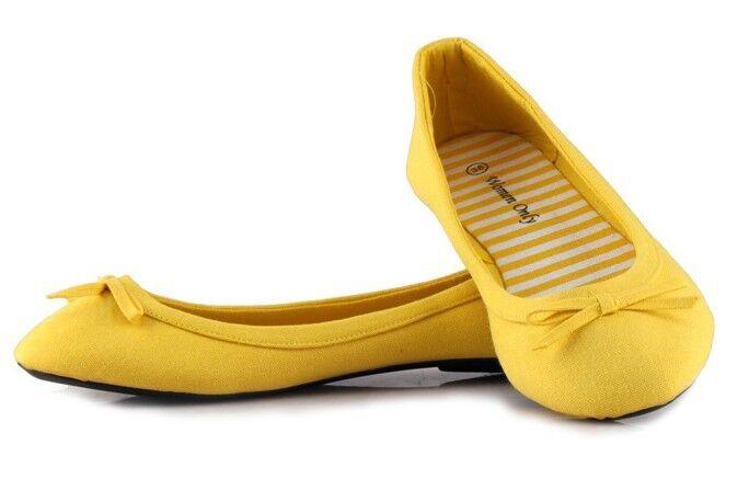 new s yellow bowknot toe slip on