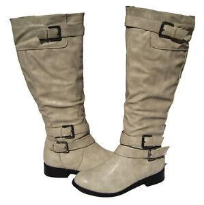 new womens knee high boots light gray winter snow