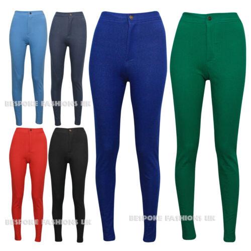 New Women's Skinny Fit High Waist Cotton Denim Ladies Jegging Legging Size 8 -14