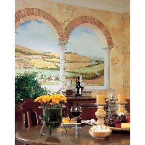 VIEW WALL MURAL Brick Arch Vineyard Countryside Kitchen Decor EBay