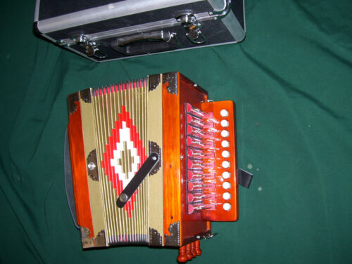 New Zydeco Cajun Button Box Accordion, C key in Musical Instruments & Gear, Accordion & Concertina | eBay